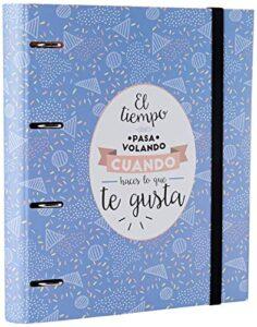 Comprar Archivadores 4 Anillas Mr Wonderful Azul Con Envío Gratuito A Domicilio En España
