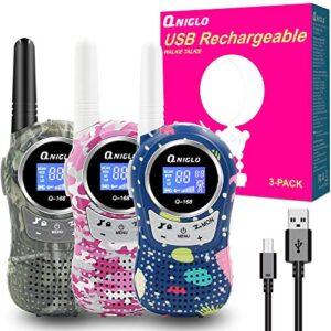 Walkie Talkie Bateria Recargable 3 Pack Valoraciones Reales De Otros Compradores Este Mes
